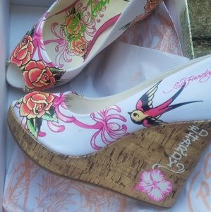 Very cute Ed Hardy Wedges